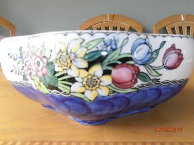 Vintage MALING Lustre BOWL  Floral Hand Painted in VGC