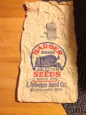 BADGER BRAND SELECTED SEEDS SINCE 1865 L.TEWELES SEED CO.MILWAUKEE WIS Seed Bag