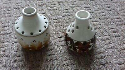 2 x Jersey Pottery Posy Vases. See Description.