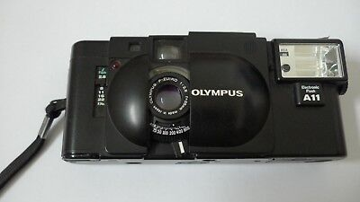 Olympus XA 35mm Compact Film Camera with A11 flash