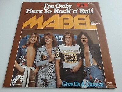 "MABEL - 7"" Single - I`m Only Here To Rock`n Roll / Give Us A CH (D,Polydor 1977)"