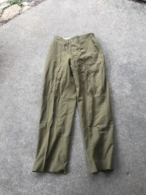 WW2 US Wool Pants Size 30x33 1944 Dated (A274