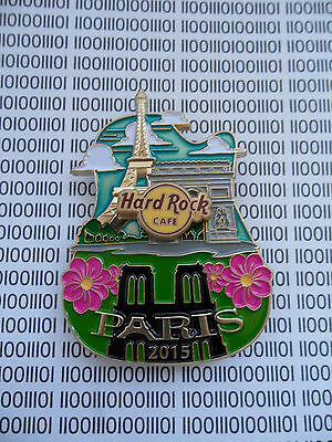 HARD ROCK CAFE PARIS 2015 - City Icon - Original V15 Version Series Pin on Card