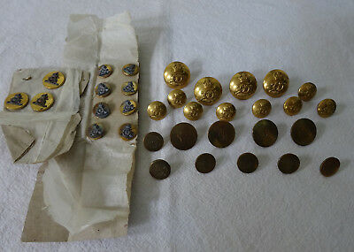 33 British Royal Artillery and Other Buttons - Various Sizes