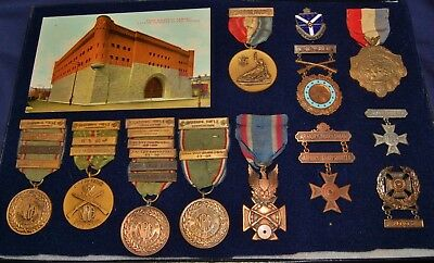 NRA - Shooting Medals - ILL. National Guard 131st Infantry - Sgt. Frank J Mana