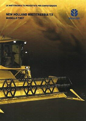 New Holland TX67 Series Combines Sales Brochure - 03/97 - Italian