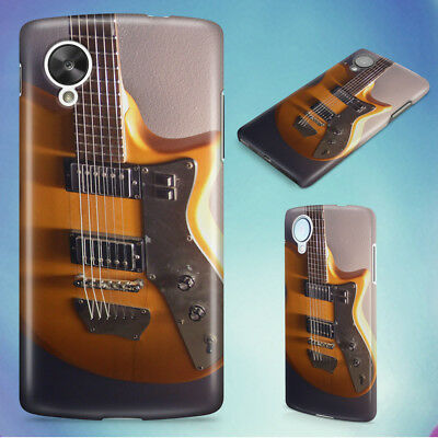Brown And Black Electric Guitar Hard Back Case Cover For Nexus Phones