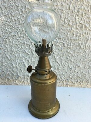 Vintage French Lampe-Olympe Brass Pigeon Style Oil Lamp