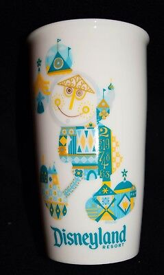 "2017 Starbucks Disneyland Resort Ceramic Tumbler - ""Small World,"" Free Shipping"