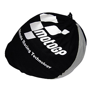 MotoGP Official Product Motorcycle Helmet Protector Drawstring Bag Black & Grey