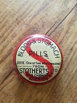 Vintage Blood And Stomach Pills STOTHERTS LTD Contains X8 Pills #3