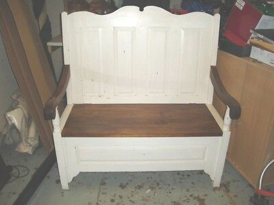 Monks Bench - Solid Wood - Distressed Look