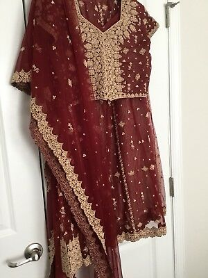 Lehenga  Choli Designer Indian Bollywood Turquoise  Silk Maroon Wedding Ethnic