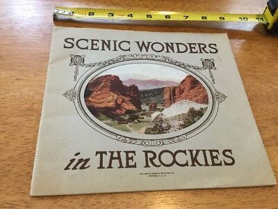 Vintage Booklet, Scenic Wonders In The Rockies, By Smith-Brooks, Colorado