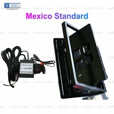 Mexico Electric License Plate Frame Flipper Turn Off Holder with Remote Control