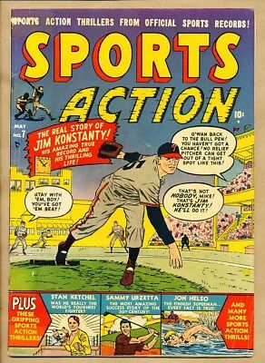 1951 Sports Action - Vol. 1 No. 7 May 1951 - Konstanty Phillies -11294-Sd