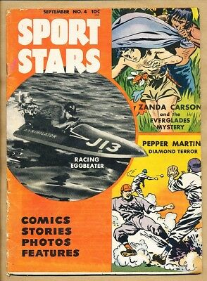 1946 Sport Stars - No. 4 Aug-Sep 1946 - Racing Eggbeater Pulp -11295-Sd