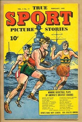 True Sport Picture Stories - Vol. 2 No. 11 Feb 1945 - Street & Smith - Pulp Comi