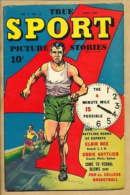 True Sport Picture Stories - Vol. 2 No. 12 April 1945 - Street & Smith Joe Baski