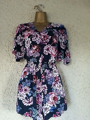 Ladies floral playsuit, jumpsuit size 16