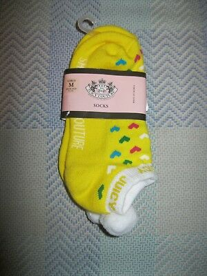 NWT 1 Pair - Girls Juicy Couture  Socks Size M - Shoe Size 9 - 1-1/2