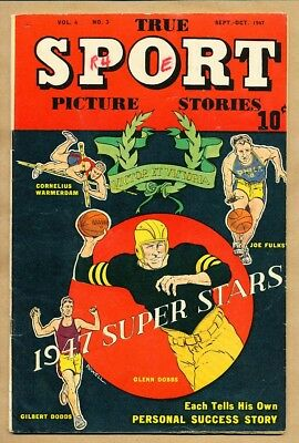 True Sport Picture Stories - Vol. 4 No. 3 Sep-Oct 1947 - Street & Smith Comic Pu