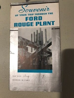 1939 A VISIT to the FORD ROUGE PLANT guidebook souvenir booklet