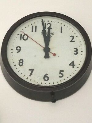 Early 20th Century WW2 Wartime Bakelite Smith Electric Wall Clock