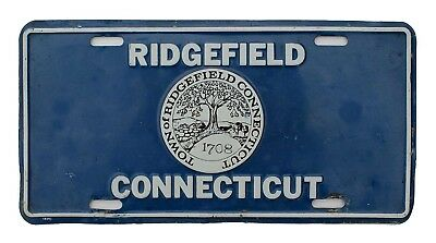 Vintage Town of Ridgefield Connecticut Front Booster Vanity License Plate