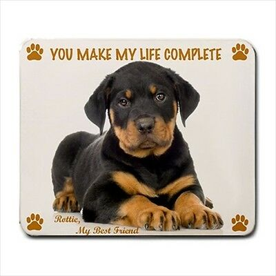 New Design Cute Adorable ROTTWEILER Dog Puppy Rubber Computer MOUSE PAD Mat