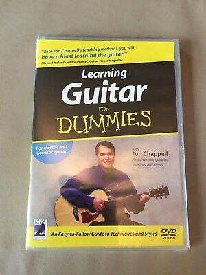 Learning Guitar for Dummies Brand new DVD still sealed Self-help tuition learn