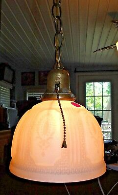 J237 ANTIQUE VICTORIAN STYLE HANGING  pendant CEILING LIGHT NEWLY WIRED