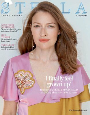 UK Stella magazine August 2018: KELLY MACDONALD COVER INTERVIEW