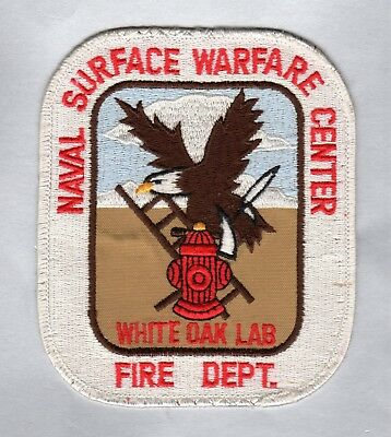 MARYLAND  Defunct 1995 - Naval Surface Warfare Center White Oak Lab Fire Patch !