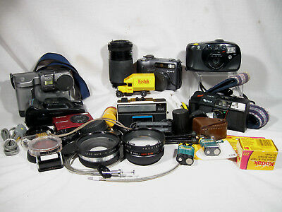 JUNK DRAWER LOT CAMERAS - PHOTOGRAPHY, Light Meter, Film, Lens, Sony