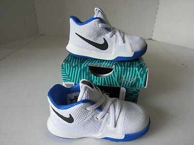 check out f2f14 4f39a discount code for nike kyrie3 td basketball shoes white hyper cobalt black  869984 102 toddler 5c