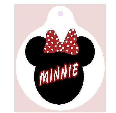 MINNIE MOUSE PET ID TAG Personalized  Animal Tag Printed 2 Sides DisneyCharacter