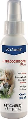 Pet Armor Hydrocortisone Quick Relief Spray for Dogs & Cats 4 oz Bottle Spray A9