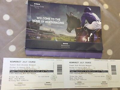 Newmarket Races Grand Paddock Tickets Bank Holiday Weekend - Friday 24th AUGUST