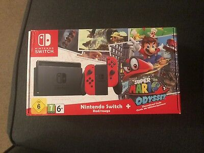New Nintendo Switch Game Console Super Mario Odyssey