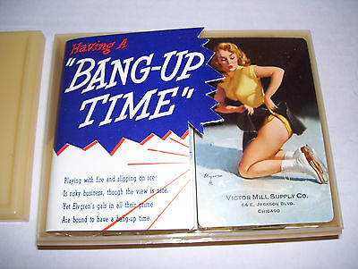 """Elvgren 2 Decks Pin-Up Playing Cards """"Having a Bang-Up Time"""" in case 1950 SEALED"""