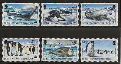 British Antarctic Terr. - Sc#192-197, cv $13+ - MNH complete - Seals / Penguins