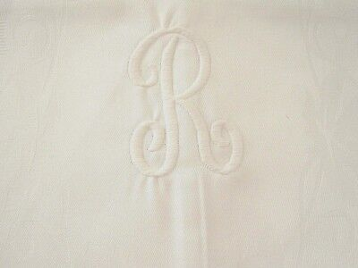 "Chambers Fine Linen Guest Towels with ""R"" Monogram, Set of 2"