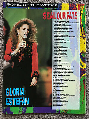 GLORIA ESTEFAN - SEAL OUR FATE 1991 full page UK magazine lyric poster