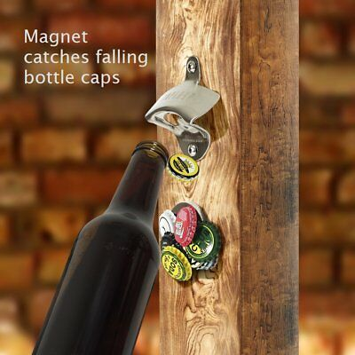 Caplord Wall Mounted Bottle Opener Magnetic Clip Catcher Stainless Steel Gift