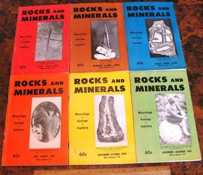 ROCKS & MINERALS MAGAZINES Vol 35 All 6 Issues Complete 1960 Mineralogy Lapidary