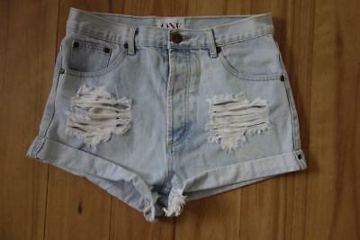 ** One by One Teaspoon Outlaws Distressed Faded Denim Shorts 28