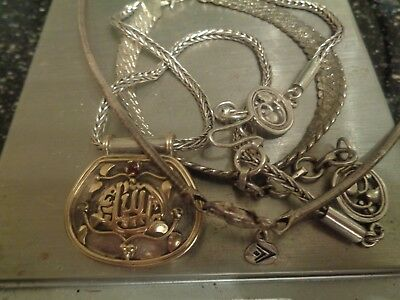 Sterling Silver Scrap or Not Lot of mixed jewelry pieces !!! with 14K GOLD !!!!!