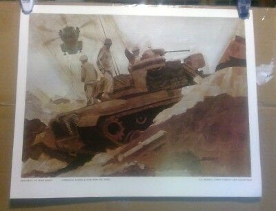 "1960s USMC ""RESUPPLY AT THE STRIP"" TANK POSTER VIETNAM WAR U.S. MARINE CORPS NOS"