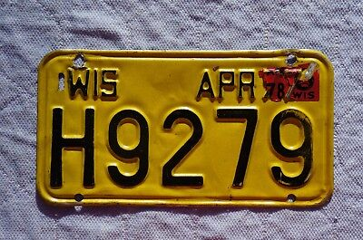 1978 Wisconsin Motorcycle License Plate